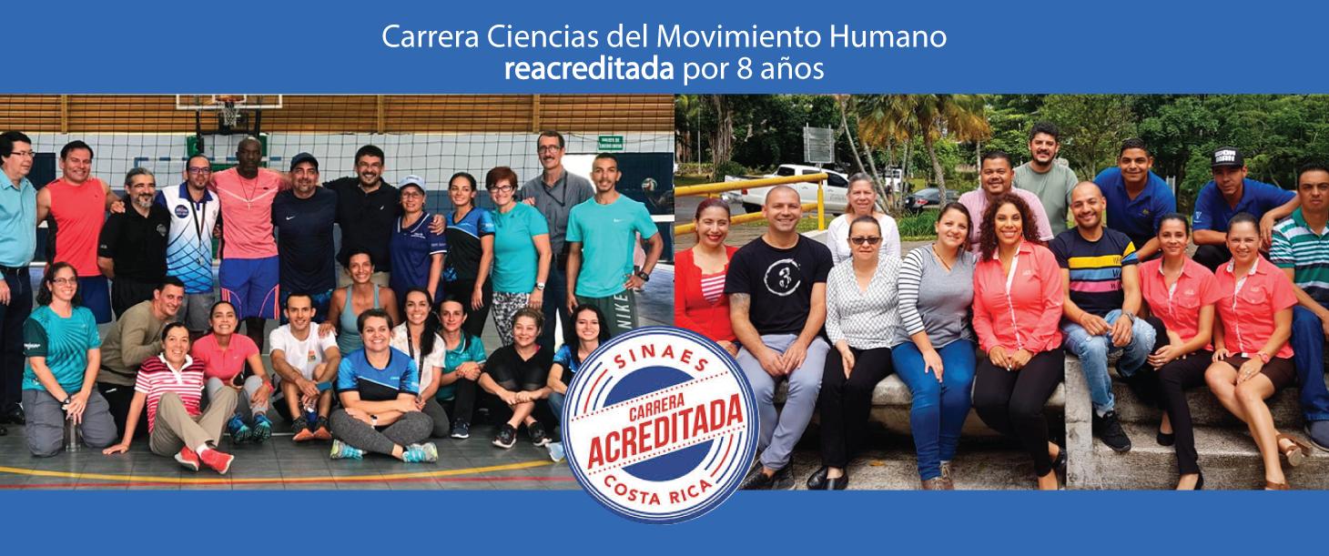 Carrera de Bachillerato en Ciencias del Movimiento Humano fue reacreditada por 8 años